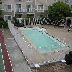 the small swimming pool - only open during summer jun-aug, and the basketball/volleyball court n
