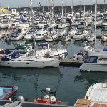Restaurant has beautiful views of Brighton Marina!