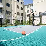 Outdoor Sport Court with complimentary equipment rental at the front desk