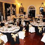 "The Banquet Hall dressed for the ""Titanic Dinner"""