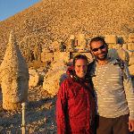 Gurcan and me on Mt. Nemrut