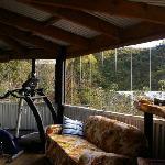 the hostel's veranda