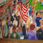 Mural in the Lake Bluff station by a member of Artists on the Bluff, Skip Weise.