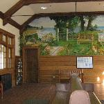 Mural depicting the history of the village in the Lake Bluff Metra train station.