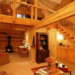 The downstairs of the cabins offer all of the creature comforts, such as sink-into furniture, ga