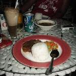 My dinner, Salisbury Steak and Soda Float