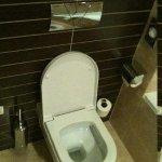 Super saubere Toilette im Bad