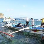 The smooth riding Bangka dive boat