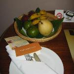 Complimentary fruit basket first night