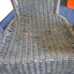 Chair in room - falling apart