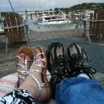 Relaxing on Waterfront Inn's Deck