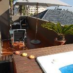 Terrace/hot tub