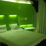 Beds in upgraded room
