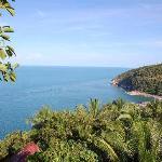 Blick vom Viewpoint auf Than Sadet beach