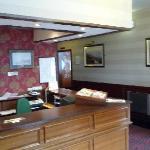 la reception de l'hôtel
