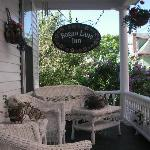 The front porch is perfect for morning coffee or watching the sunset!