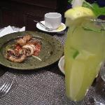 Grilled octopus and a lemonade
