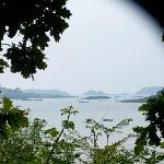 Beautiful views across the sea of islands