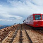Railway car at the summit of Pike's Peak
