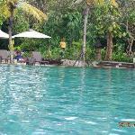 The larger pool.  Nice but no swim up pool bar