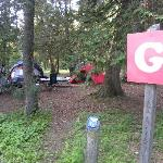 Our campsite - G12 - close to washrooms, parking & Rafters