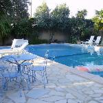 Grande piscine en L