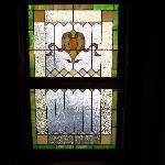 One of the hotels many stained glass windows