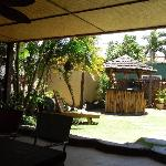 The Nula Kai Lodge courtyard