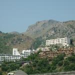 our hotel from beach motorway