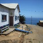 Die Schule des Fischerorts Chome nahe Concepcióin