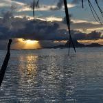 Tramonto e in lontananza Bora Bora