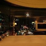 Panorama-Blick aus dem Bett