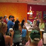Free ice cream samples at Ben & Jerry's