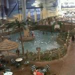 A small section of the indoor waterpark