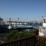 Blick auf den Hafen vom Balkon aus