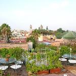 The terrace offers unparalleled views of the city and surrounding countryside.