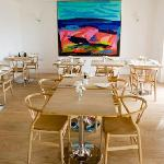 Dining Room with modern art