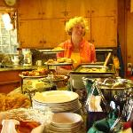 Anita, owner, makes great breakfasts every morning.