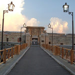 The fort entrance