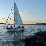 Sailboat on Lake Seneca