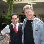 Gary with waiter, Freddy