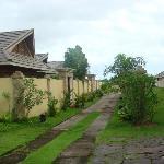 walkway to the villas