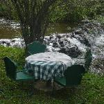 Table by the creek