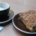 cappucino and coffee cake