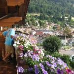 dal balcone dell'hotel
