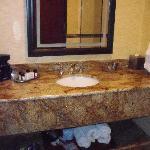 Vanity in bath