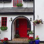 Front door of Woodside Lodge, Westport, Ireland