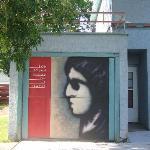 Garage door on the Dylan house