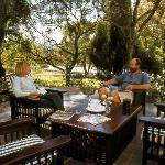 The verandas create a wonderful space to enjoy a light lunch or tea