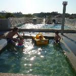 La zona de la piscina (en el tejado)